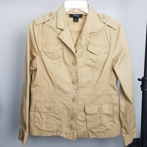 Style & Co tan cargo jacket size Medium Petite